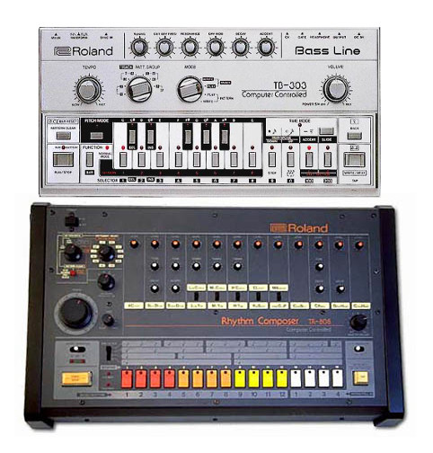 Roland TB-303 and TR-808